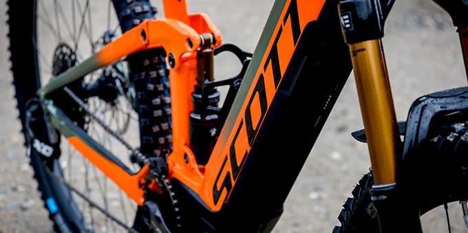 Baterija pri električnem kolesu Scott eRide Shoot